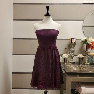 Adrianna Papell Purple Lace Dress Sz 14